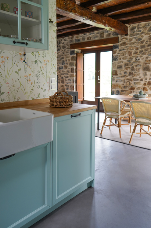 Cocina rústica y vintage