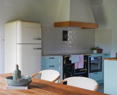 Una cocina rústica y vintage